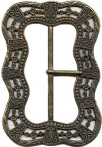 "80mm Pirate's Large Buckle - outside dimensions 5"" x 3 1/8"". Code BUC042"